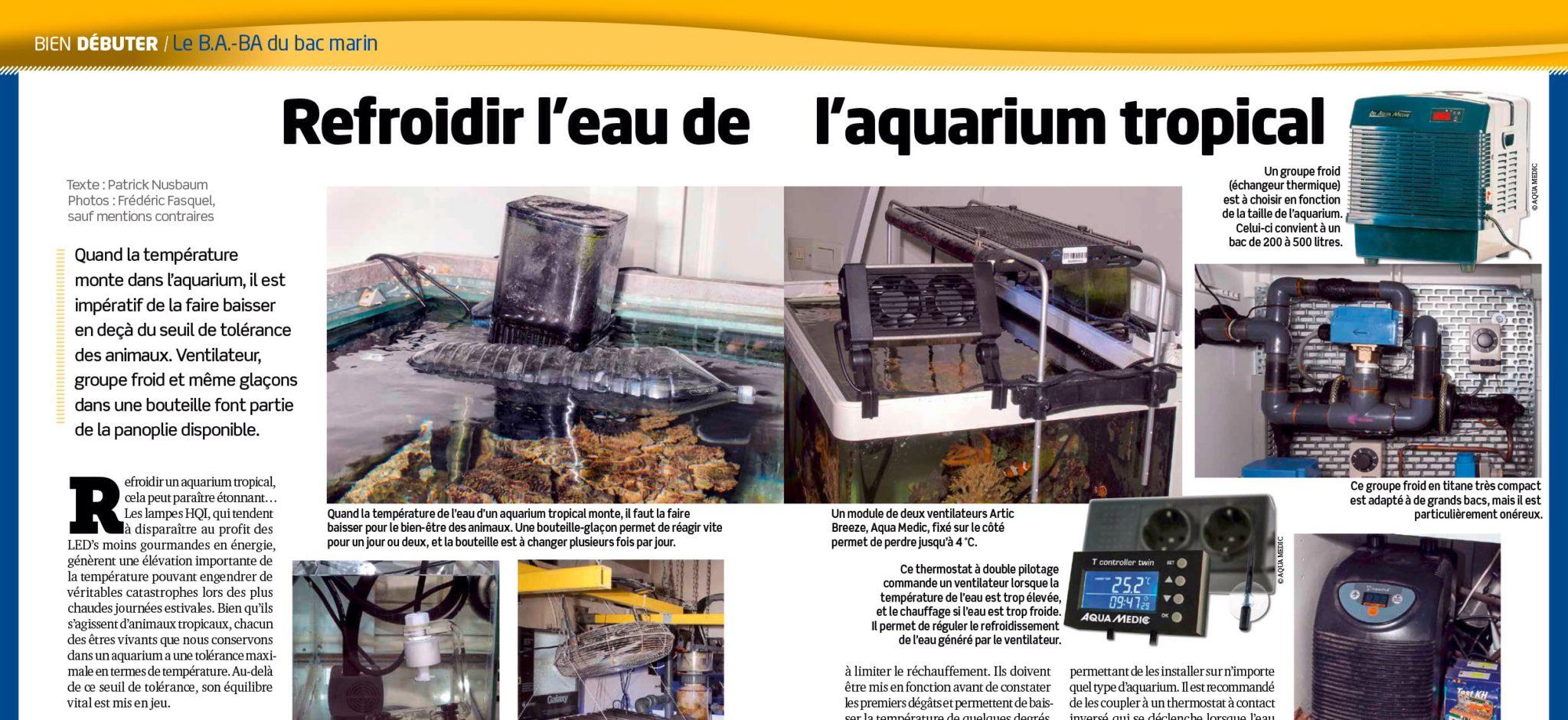 Aquarium la maison 122 refroidir son aquarium for Aquarium a la maison